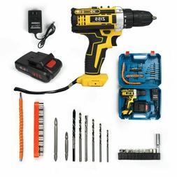 21V Cordless Drill Electric Screwdriver 30pcs Drill Driver K