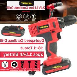 21V Cordless Drill Screwdriver Driver 18+1 Tool Repair Home