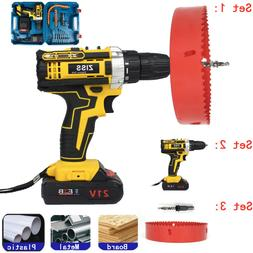 """21V Cordless Drills Set 3/8"""" Electric Drill Driver Tool with"""