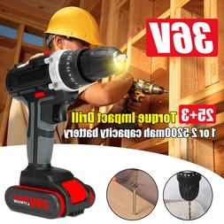 21V Cordless Electric Screwdriver Rechargeable Hand Drill Po