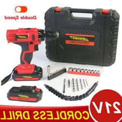 21V Drill Electric Screwdriver Cordless Rechargeable Power T