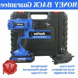 21V Electric Cordless Drill 18+1 Wireless Power Screwdriver