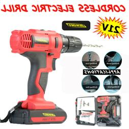 21V Electric Cordless Drill Mini Screwdriver Power Driver Dr
