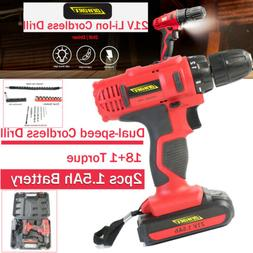 21V Electric Rechargeable Hand Drill Screwdriver Cordless Sc