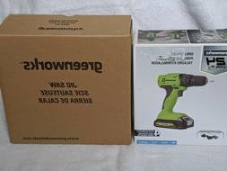 Greenworks 24 Volt Lithium Max Cordless Drill Driver and Jig