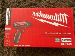 "Milwaukee 2401-22 12V Li-Ion 1/4"" Cordless Drill/Driver Bran"