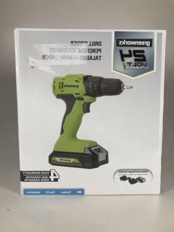 Greenworks 24V Drill Driver DD24B210 Brand New In Box!