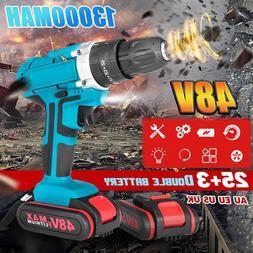 25+3 Torque Drilling Tool 48V 2 Speed Power-<font><b>Drills<
