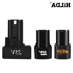HILDA 25V 16.8V 12V Lithium <font><b>Battery</b></font> Scre