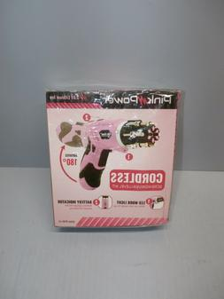 Pink Power 3.6 Volt Cordless Rechargeable Electric Screwdriv