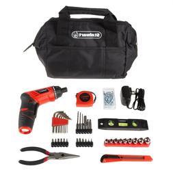Stalwart 3.6V Cordless Screwdriver Set Tool Bag Accessories