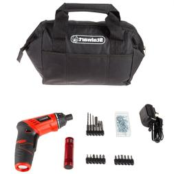 Stalwart 3.6V Cordless Screwdriver Set Tool Bag Home Portabl
