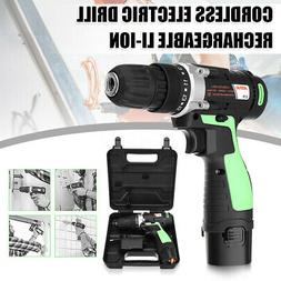 """3/8"""" 12V LED Cordless Electric Drill Impact Rechargeable Li-"""