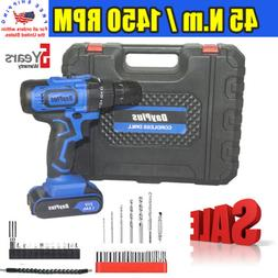 3 8 21v cordless drill kit driver