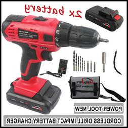 18V/20v Cordless Electric Drill Driver Kit Tool Rechargeable