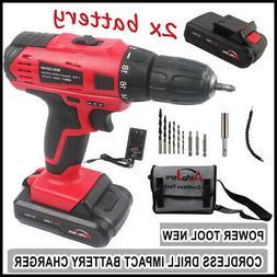 AUTOJARE 3/8'' Cordless Drill 2x Battery set/kit Powerful to