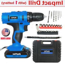 "3/8"" cordless drill kit driver drill with li-ion battery cha"