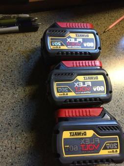3 Dwalt Flex Volt Lithiun Ion 20v /60v 6.0 Batteries