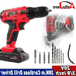 Cordless Impact Drill Hammer Drill Screwdriver bits Battery