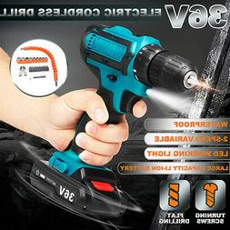 36V Electric Cordless Drill 18+1 Wireless Power Screwdriver
