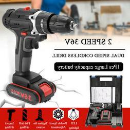 36V Impact Cordless Drill High-power Hand Drills DIY Electri