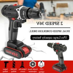 36V Impact Cordless Drill High-power Rechargeable Electric P