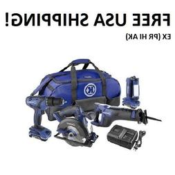 Kobalt 18v 4-tool Lithium-Ion kit  NEW