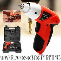 45 in 1 Rechargeable Cordless Electric Screwdriver Drill Kit