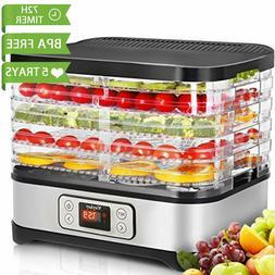 5 Tray Electric FOOD DEHYDRATOR Beef Jerky Snack Fruit Dryer