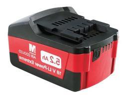 Metabo 625587000 Li-Power Ultra-M 18V 5.2 Ah Lithium-Ion Bat