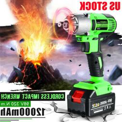 98VF 320NM 12000mAh Cordless Electric Impact Wrench Drill Sc