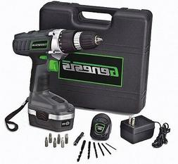 Cordless Drill Driver Screwdriver Genesis 18V Battery Storag