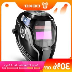 DEKO Auto Darkening Hood with Adjustable 4/9-13 for Mig Tig
