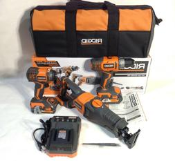 RIDGID R96121 18V Cordless 3 Tool Combo Kit w/ Drill, Impact