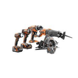Ridgid 5-Tool Cordless Combo Kit Drill Impact Driver Circula
