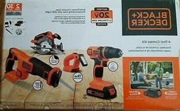 Black & Decker BD4KITCDCRL 20V MAX 1.5 Ah Cordless Lithium-I