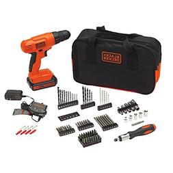 Black & Decker BDC120VA100 20-Volt MAX Lithium-Ion Drill Kit