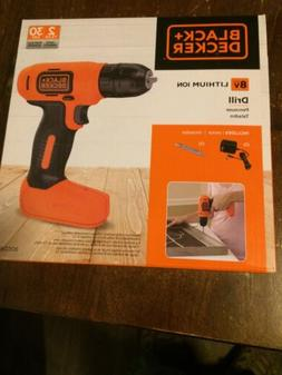 BLACK AND DECKER 8V BATTERY DRILL LITHIUM ION *NEW* BDCD8C