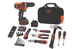 BLACK+DECKER 12V MAX Drill & Home Tool Kit, 60-Piece  - NEW