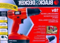 Black-Decker 18v cordless power drill driver with 30 bonus a