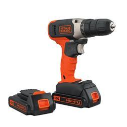BLACK+DECKER 20-Volt MAX* Lithium Cordless Drill With 2 Batt
