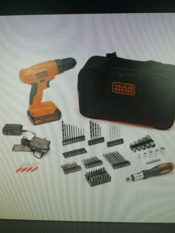 BLACK DECKER BDC120VA100 20-Volt MAX Lithium-Ion Drill Kit w