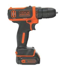 BLACK+DECKER Cordless Drill Driver Battery And Charger 12 V