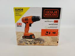 BLACK + DECKER LD120VA 20-Volt Max Lithium Drill/Driver with
