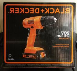 BRAND NEW Black+Decker 20v Max Lithium Cordless Drill/Driver