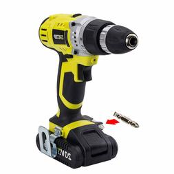 CACOOP Cordless Drill Driver, Variable 2-Speed, Compact, Lig