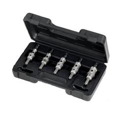 Champion Cutting Tool 5 Piece Carbide Tipped Hole Cutter Set