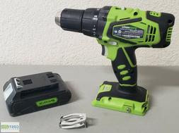 Greenworks CD24B00 Cordless Drill/Impact Driver + Battery 24