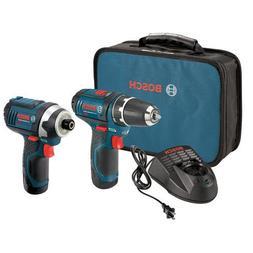 Bosch CLPK22-120-RT 12 Volt Li-Ion 2-Tool Combo Kit Drill/Dr