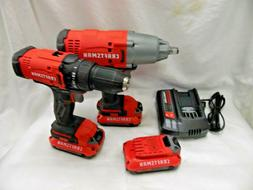 CMCF900 Craftsman 20V 1/2 in. Impact wrench  and CMCD700 dri